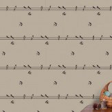 Hubbard and Reenie On a Wire - Weasel Beige Wallpaper - Product code: OAW1