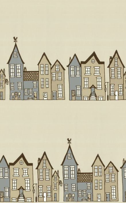 Hubbard and Reenie The Street -Biscuit Beige Wallpaper - Product code: TS2