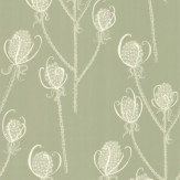 Hubbard and Reenie Teasels - Shepherd Cream / Soft Green Wallpaper - Product code: TSL3
