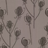 Hubbard and Reenie Teasels - Reenie Black / Grey Wallpaper - Product code: TSL4