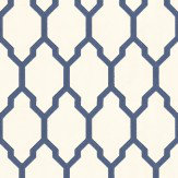Farrow & Ball Tessella Navy Wallpaper