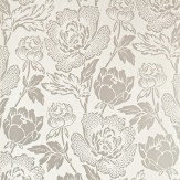 Farrow & Ball Peony Metallic Silver / Cream Wallpaper