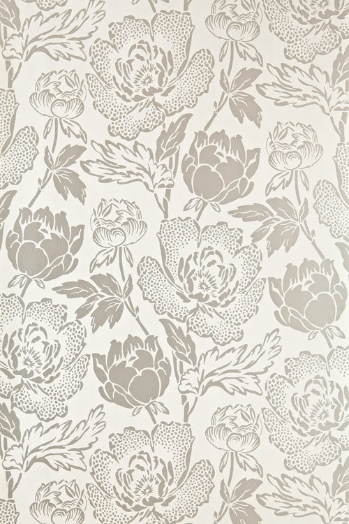 Farrow & Ball Peony Metallic Silver / Cream Wallpaper - Product code: BP 2303