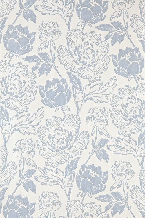 Farrow & Ball Peony Sky Blue / Off White Wallpaper - Product code: BP 2317