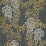 Farrow & Ball Wisteria Metallic Gold / Charcoal Wallpaper - Product code: BP 2206