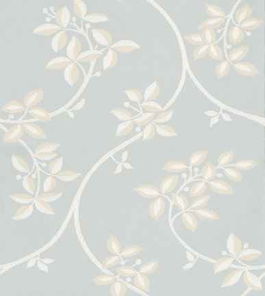 Farrow & Ball Ringwold White / Blue Wallpaper - Product code: BP 1647