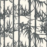 Farrow & Ball Bamboo Black and white Wallpaper