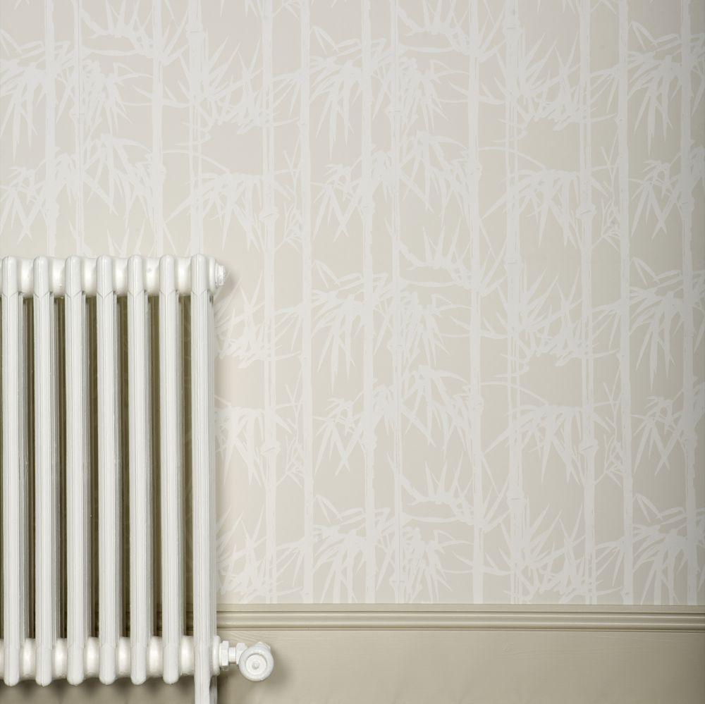 Bamboo Wallpaper - Cream / Light Beige - by Farrow & Ball