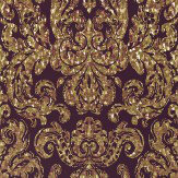 Zoffany Brocatello Briolette Bronze / Burgundy Wallpaper - Product code: 310989
