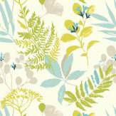 Clarke & Clarke Woodland Aqua Wallpaper