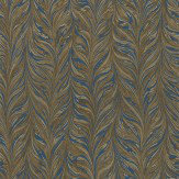 Zoffany Ebru Brown / Blue Wallpaper - Product code: 311009