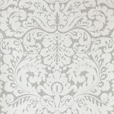 Farrow & Ball Silvergate White / Grey Wallpaper