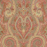 Thibaut Patini Red / Cream / Olive Wallpaper