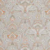 Thibaut Sakara Grey / Orange Wallpaper