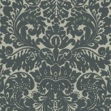 Farrow & Ball Silvergate Black / Olive Wallpaper