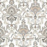 Thibaut Sakara Black / White / Silver Wallpaper
