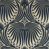 Farrow & Ball Lotus Black / Taupe Wallpaper