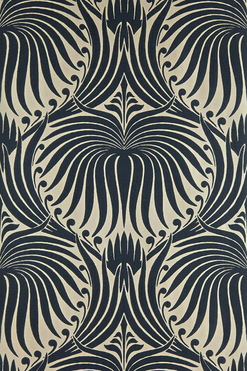 Farrow & Ball Lotus Black / Taupe Wallpaper - Product code: BP 2019