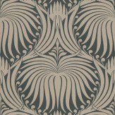 Farrow Ball Lotus Taupe Black Wallpaper