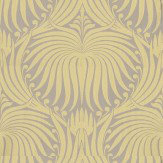 Farrow & Ball Lotus Yellow / Taupe Wallpaper