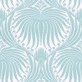 Farrow & Ball Lotus Teal / Off White Wallpaper