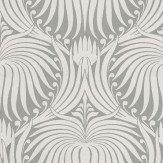 Farrow & Ball Lotus White / Grey Wallpaper