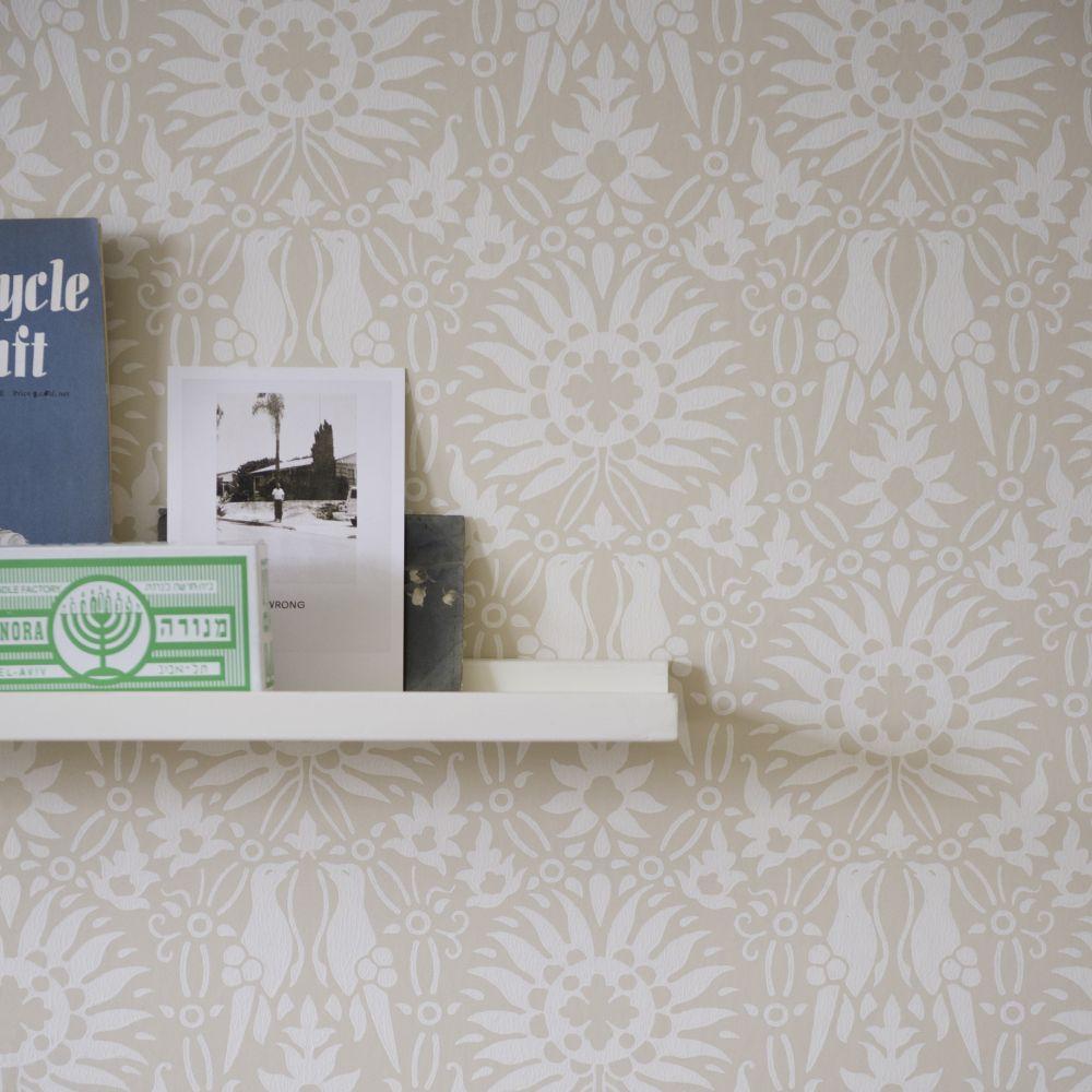 Renaissance Wallpaper - Cream / Light Beige - by Farrow & Ball