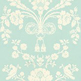 Farrow & Ball St Antoine White / Sky Blue Wallpaper