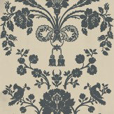 Farrow & Ball St Antoine Black / Beige Wallpaper - Product code: BP 910