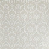 Farrow & Ball Brocade White / Soft Grey Wallpaper