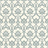 Farrow & Ball Brocade Blue / Off White Wallpaper
