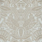 Farrow & Ball Orangerie Metallic Silver / Blue Wallpaper