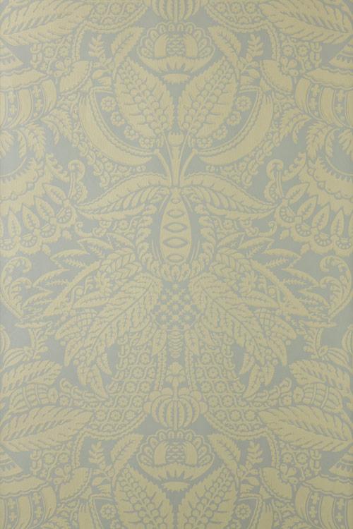 Orangerie Wallpaper - Dark Yellow / Sage - by Farrow & Ball