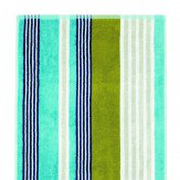 Scion Block Stripe Lagoon Bath Towel