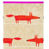 Scion Mr Fox Cerise Towel