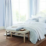 Sanderson Richmond Quilted Throw Blue