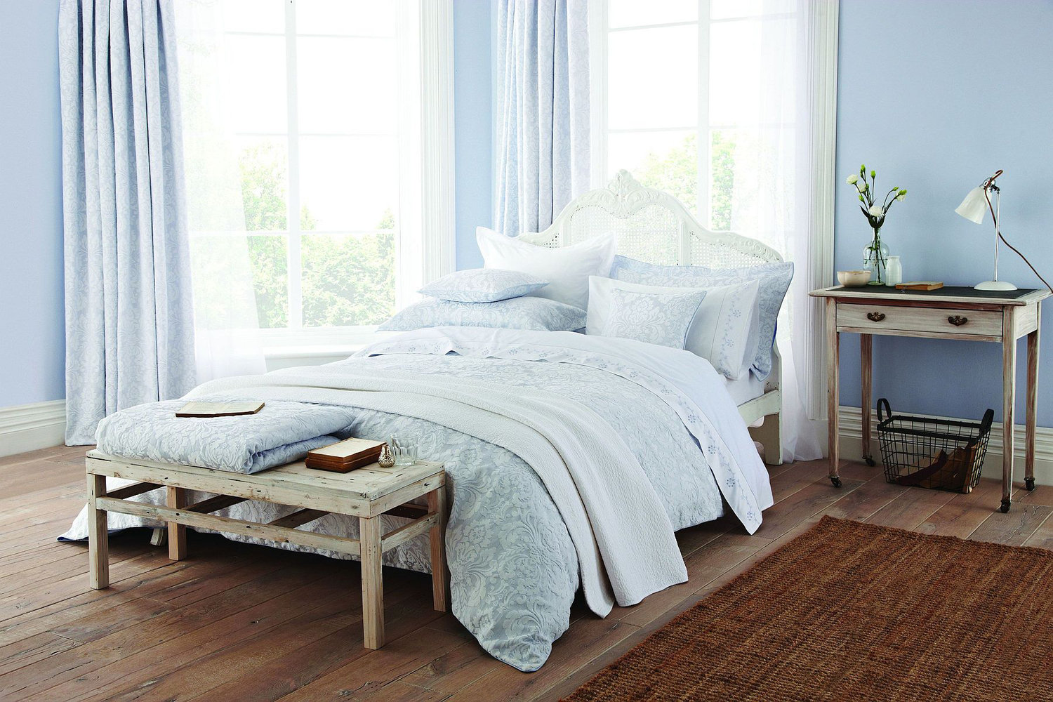 Sanderson Richmond Quilted Throw Blue main image