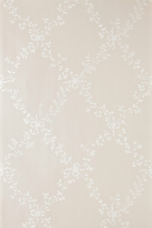 Farrow & Ball Toile Trellis White / Taupe Wallpaper - Product code: BP 620