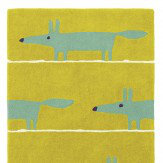 Scion Mr Fox Rug Mustard