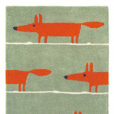 Scion Mr Fox Rug Cinnamon