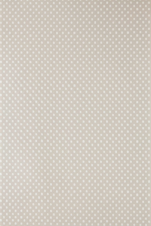 Farrow & Ball Polka Square White / Taupe Wallpaper - Product code: BP 1053