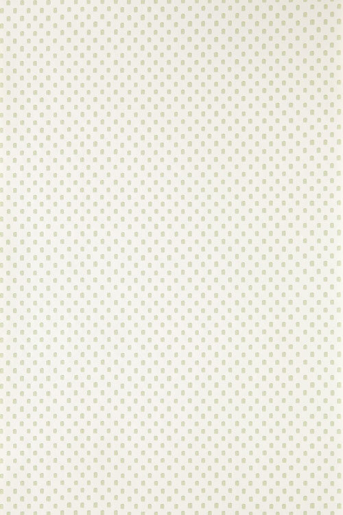 Polka Square Wallpaper - Green / Off White - by Farrow & Ball