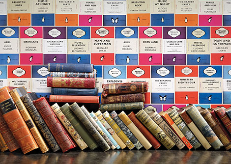 Osborne & Little Penguin Library Wallpaper