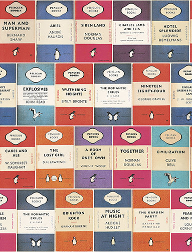 Osborne & Little Penguin Library Multi Wallpaper - Product code: W6498-01