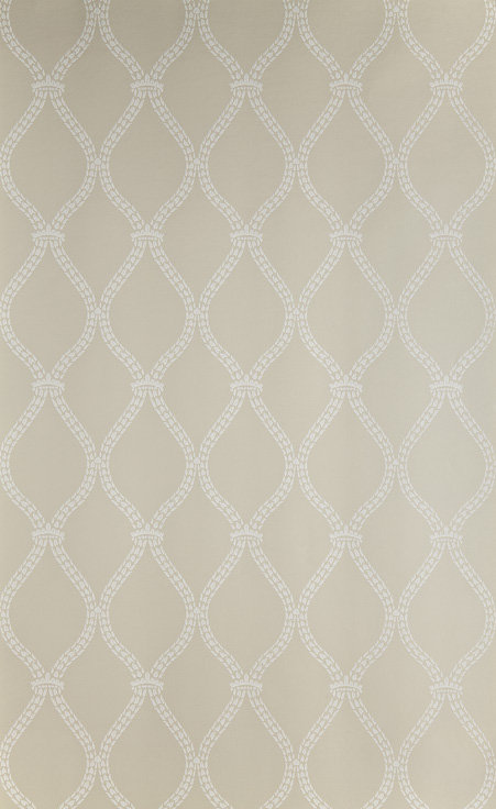 Farrow & Ball Crivelli Trellis White / Beige Wallpaper - Product code: BP 3104