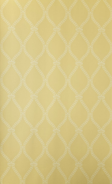 Crivelli Trellis Wallpaper - Yellow - by Farrow & Ball