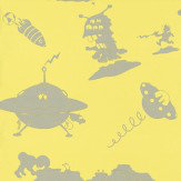 PaperBoy The Final Frontier Yellow and Grey Yellow / Grey Wallpaper - Product code: TFF/WP/YEL