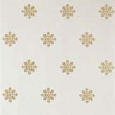 Farrow & Ball Brockhampton Star Metallic Gold / Off White Wallpaper