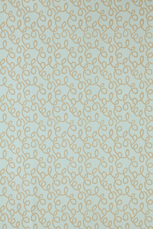 Farrow & Ball Vermicelli Duck Egg Wallpaper - Product code: BP 1547