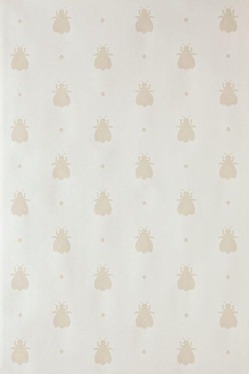 Bumble Bee Wallpaper - Beige / Cream - by Farrow & Ball